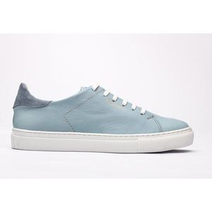 Rosapreto Flet Leather Sneakers/Trainers Baby Blue